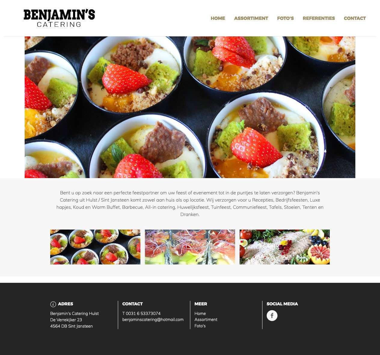 Webdesign voor cateringbedrijf