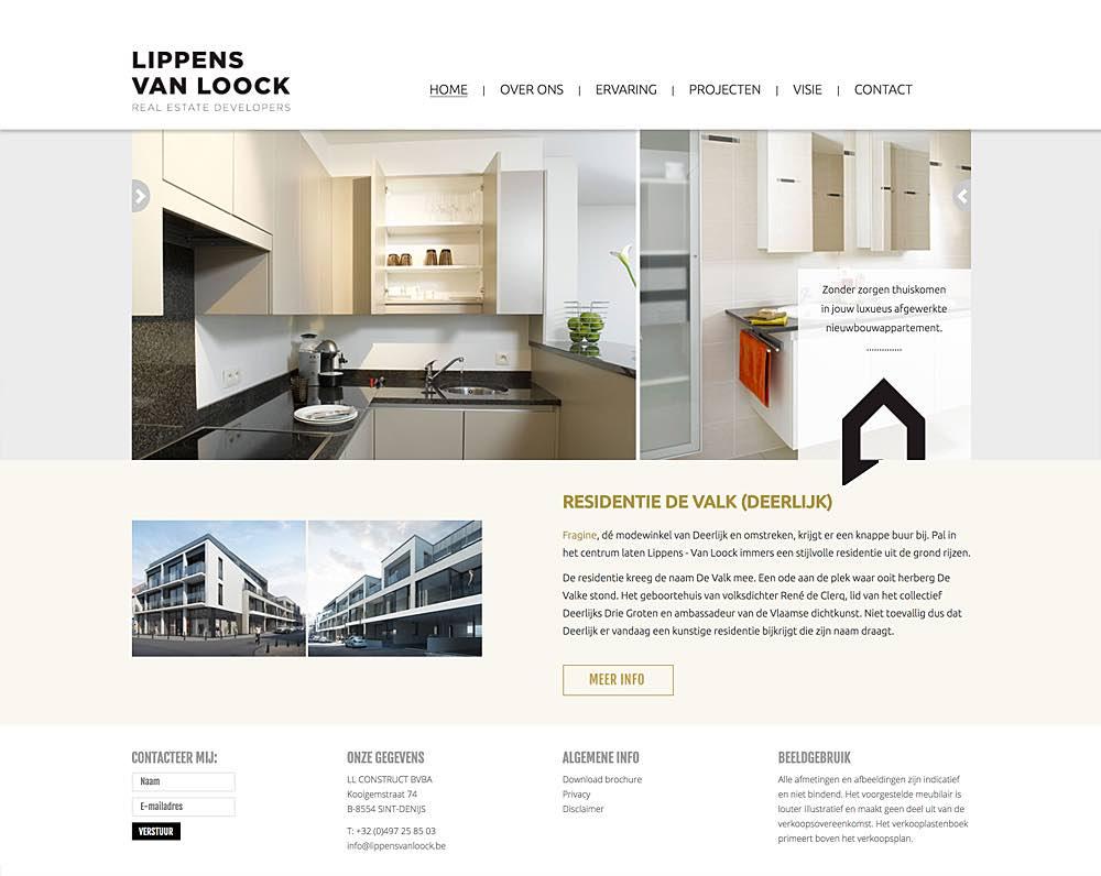 Website voor projectontwikkelaar