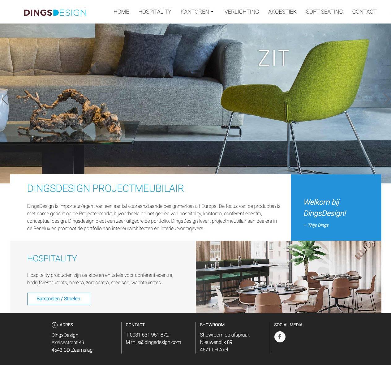 Website voor DingsDesign