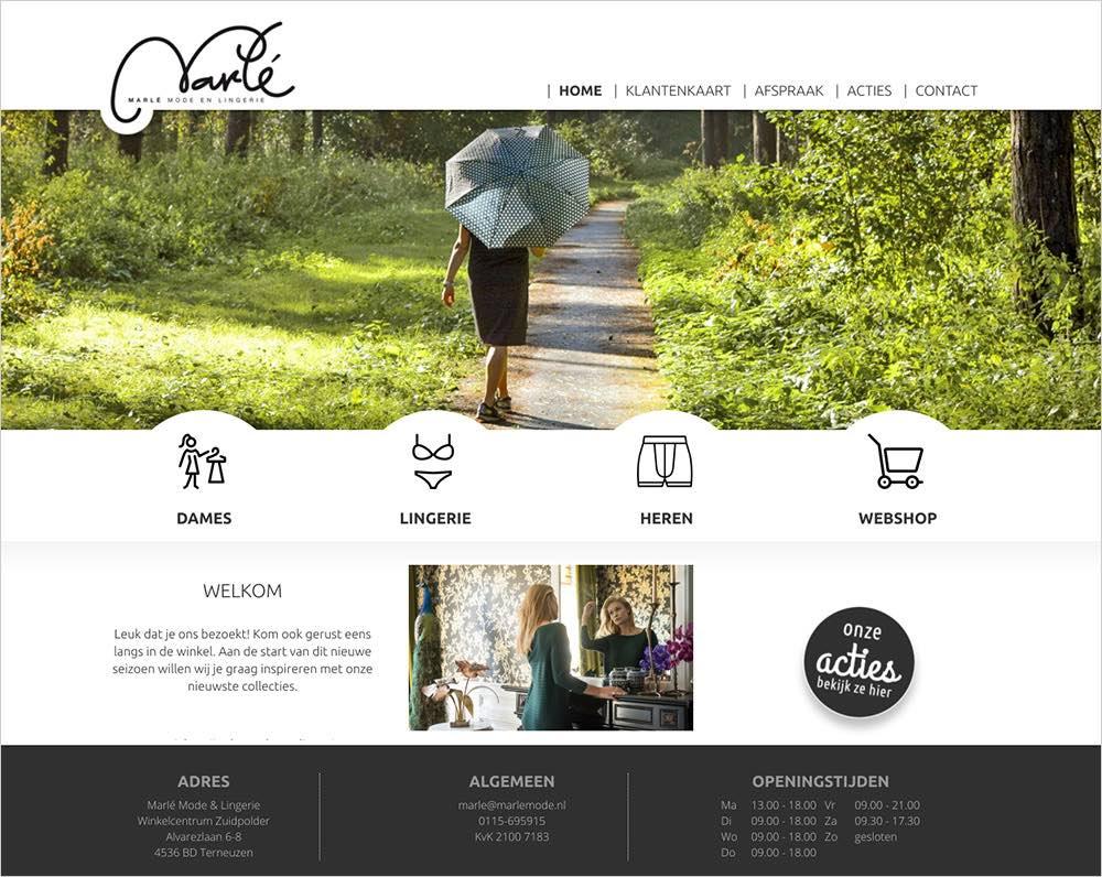 Webdesign voor kledingwinkel
