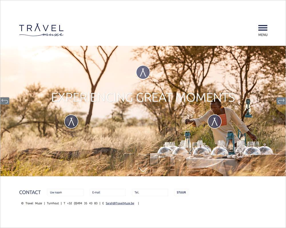 Website ontwikkeld voor reisbureau