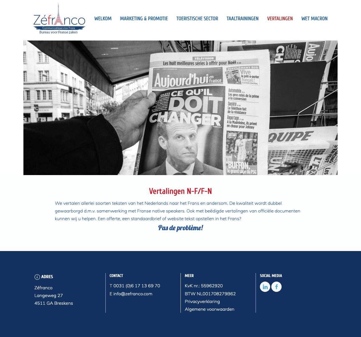 Website ontwikkeld voor vertaalbureau